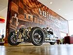 """V8Hotel - Automobile Arrangements - Ein Tag einen Morgan Threewheeler - Arrangement """"Freuen auf Morgan"""". - V8 Hotel im Meilenwerk Stuttgart auf dem Flugfeld Boeblingen."""