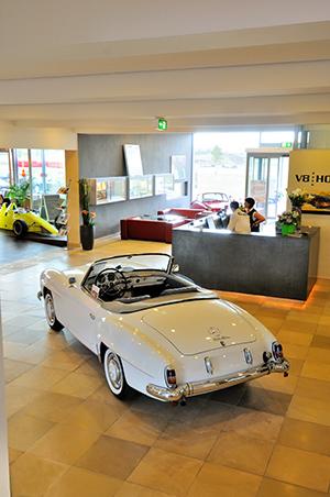 V8 Hotel im Meilenwerk Stuttgart auf dem Flugfeld Boeblingen.