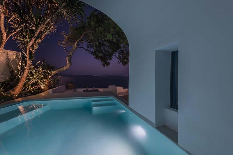 Pina Caldera Aria Hotels Pool at night