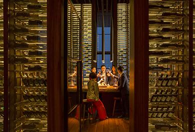34. French restaurant wine cellar