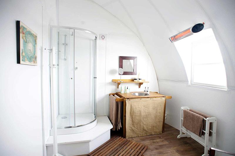 Shower room at camp