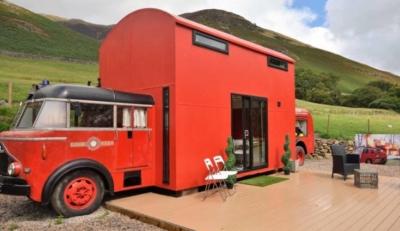 Ξενοδοχείο: Πρώην πυροσβεστικό όχημα