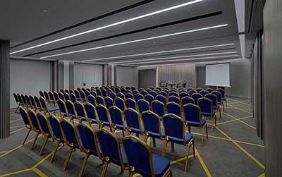 Σε πλήρη ανακαίνιση των αιθουσών εκδηλώσεων που βρίσκονται στον ημιώροφο του ξενοδοχείου προχώρησε το NJV Athens Plaza