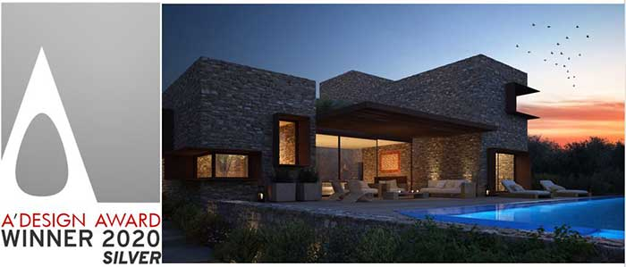 """Διεθνές βραβείο στην κατηγορία Architecture, Building and Structure Design για το """"Panorama Villa"""" στο Costa Navarino"""