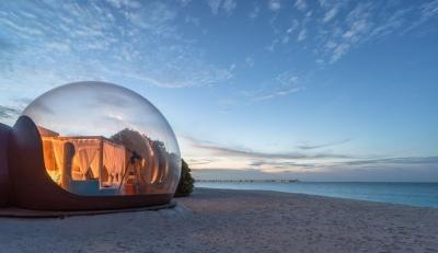 Ξενοδοχείο στις Μαλδίβες θα κυκλοφορήσει το Beach Bubble ιδανικό για social distancing