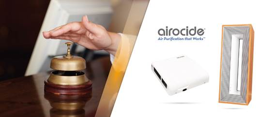 Airocide: Θωρακίστε το ξενοδοχείο σας με διαστημική τεχνολογία καθαρισμού αέρα